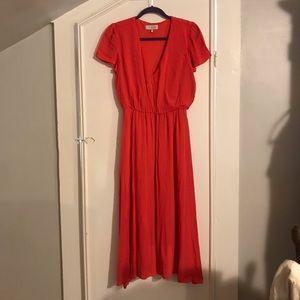 Wayf Blousom Midi Dress Size Small